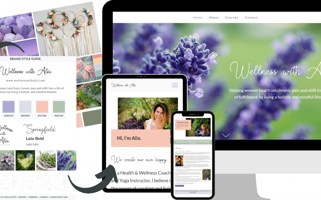 Wellness with Alix Brand Design, Website Redesign, and Course Design Transformation