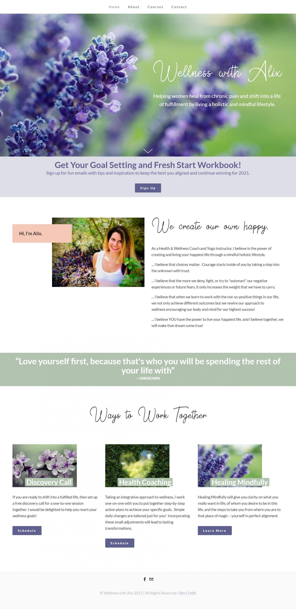 Wellness with Alix Home Page