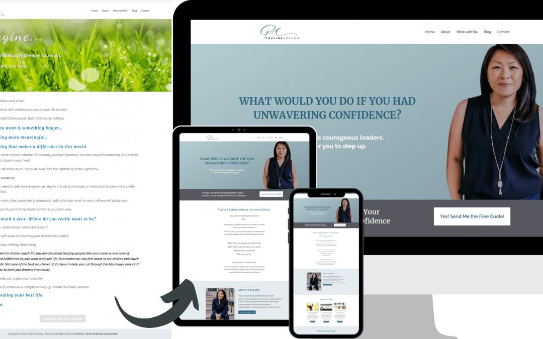 Pauline Cheung Coaching Website Redesign Transformation
